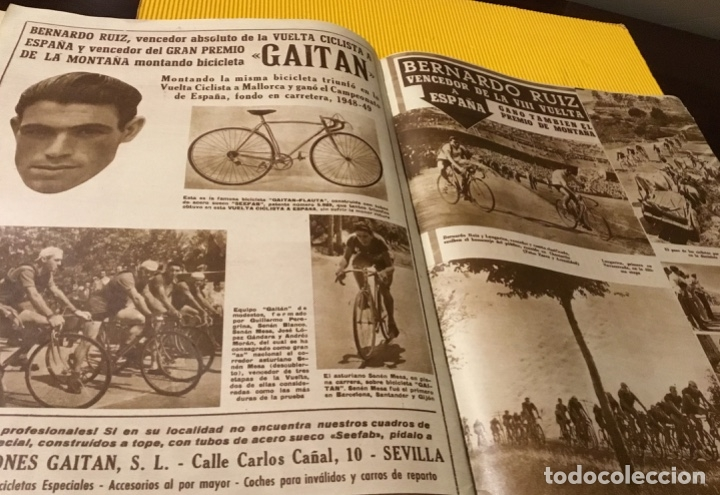 Coleccionismo deportivo: Sevilla campeón de la copa 1948 semanario marca totalmente original - Foto 8 - 181142366