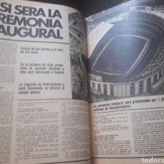 Coleccionismo deportivo: ASI SERA LA CEREMONIA INAUGURAL DEL MUNDIAL DE ESPAÑA. 3 PAGINAS REVISTA 1982. Lote 181191638