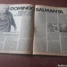 Coleccionismo deportivo: ENTREVISTA A DOMINGO BALMANYA - AÑO 1982 - 4 PAGINAS. Lote 181192785