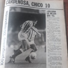 Coleccionismo deportivo: 100 PREGUNTAS A CARDEÑOSA DEL REAL BETIS - 3 PAGINAS REVISTA AÑO 1982. Lote 181193205