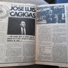 Coleccionismo deportivo: ENTREVISTA A JOSE LUIS CAGIGAS , PRESIDENTE DEL RACING DE SANTANDER - 4 PAGINAS , AÑO 1982. Lote 181359105