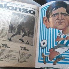 Coleccionismo deportivo: REPORTAJE DE ALONSO, REAL SOCIEDAD - 9 PAGINAS - REVISTA AÑO 1982. Lote 181359713