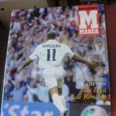 Coleccionismo deportivo: MOMENTO MARCA LA LIGA DE RONALDO NAZARIO - REAL MADRID 2003 - POSTER. Lote 181927182