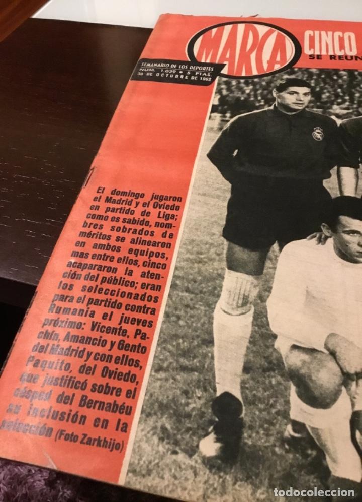 Coleccionismo deportivo: Antiguo semanario marca año 1962 Totalmente original muy buen estado - Foto 3 - 182036262
