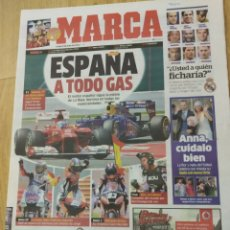 Coleccionismo deportivo: DIARIO MARCA. FECHA 9 JULIO 2012. Lote 182037441
