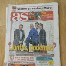 Coleccionismo deportivo: DIARIO AS 24 MARZO 2012( EDICIÓN PROVINCIAS SEVILLA, HUELVA Y CÁDIZ). Lote 182037812