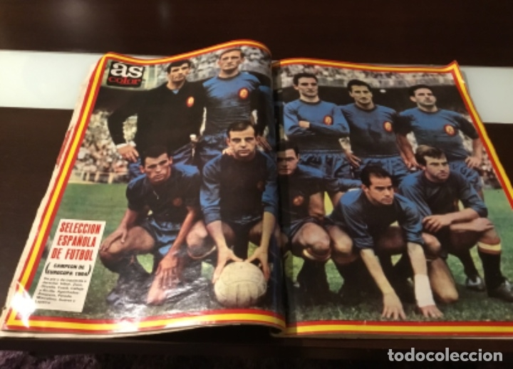 Coleccionismo deportivo: Extra As italia eurocopa poster seleccion española 1964 - Foto 3 - 182136251