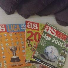 Coleccionismo deportivo: LOTE 4. REVISTA DEPORTIVA AS GUIA LIGA AÑOS 98/99 2000 2001 2002 Y 2004/05. Lote 182382816