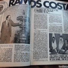 Coleccionismo deportivo: ENTREVISTA A RAMOS COSTA PRESIDENTE DEL VALENCIA C.F . 4 PAGINAS AÑO 1982. Lote 182388703
