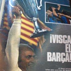 Coleccionismo deportivo: REPORTAJE DE LA FINAL DE LA RECOPA AÑO 1982 , EL BARCELONA CAMPEON . 7 PÁGINAS AÑO 1982.. Lote 182389658