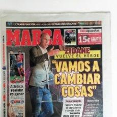 Coleccionismo deportivo: MARCA: EL REGRESO DE ZIDANE. Lote 182451263