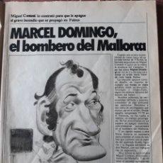 Coleccionismo deportivo: ENTREVISTA A MARCEL DOMINGO , ENTRENADOR DEL MALLORCA - 3 PAGINAS , AÑO 1983. Lote 182688393