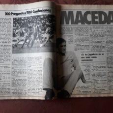 Coleccionismo deportivo: ENTREVISTA A MACEDA DEL SPORTING DE GIJON - 4 PÁGINAS AÑO 1983. Lote 182688995