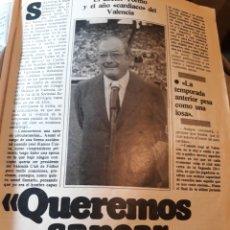Coleccionismo deportivo: EL DOCTOR TORMO , PRESIDENTE EL VALENCIA C.F . 3 PÁGINAS - AÑO 1984. Lote 182714122