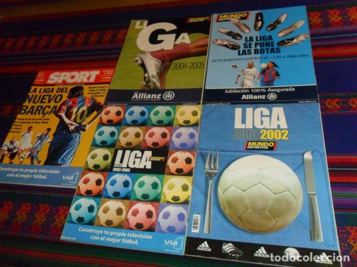 MUNDO DEPORTIVO EXTRA LIGA 2001 2002, 2002 2003, 2003 2004 Y 2004 2005. REGALO SPORT 2002 2003. (Coleccionismo Deportivo - Revistas y Periódicos - Mundo Deportivo)