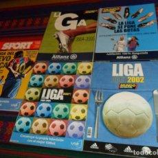 Coleccionismo deportivo: MUNDO DEPORTIVO EXTRA LIGA 2001 2002, 2002 2003, 2003 2004 Y 2004 2005. REGALO SPORT 2002 2003.. Lote 182740395