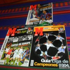 Coleccionismo deportivo: MARCA GUÍA DE LIGA DE CAMPEONES CHAMPIONS LEAGUE 03 04, 04 05 50 AÑOS DE COPAS DE EUROPA Y 06 07.. Lote 182741260