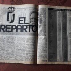 Coleccionismo deportivo: TABLA DEL REPARTO DE LOS PRESUPUESTOS POR DEPORTES DEL AÑO 1984.. Lote 182768591