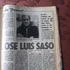 Coleccionismo deportivo: JOSE LUIS SASO - LOS ZAMORA - 5 PAGINAS AÑO 1984 .. Lote 182768755