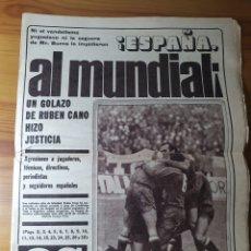 Coleccionismo deportivo: DIARIO AS AÑO 1977, N°3103 ESPAÑA AL MUNDIAL!. Lote 183005185