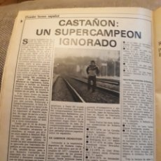 Coleccionismo deportivo: ROBERTO CASTAÑON : UN CAMPEÓN IGNORADO . HOJA AÑO 1984. Lote 183296437