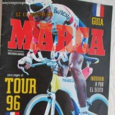 Coleccionismo deportivo: GUIA MARCA - TOUR 96 - INDURAIN A POR EL SEXTO. . Lote 183333307