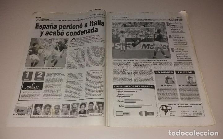 Coleccionismo deportivo: Periódico Sport. Mundial USA 1994, España vs Italia, codazo a Luis Enrique de Tassotti - Foto 2 - 202038032