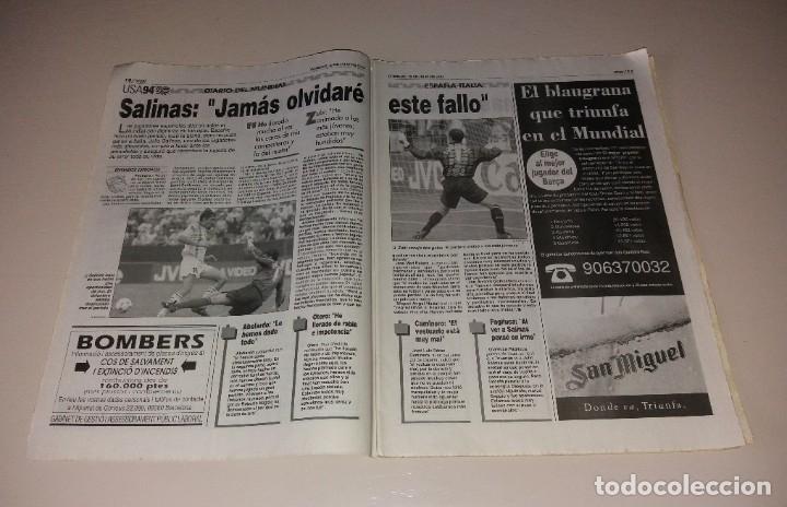 Coleccionismo deportivo: Periódico Sport. Mundial USA 1994, España vs Italia, codazo a Luis Enrique de Tassotti - Foto 3 - 202038032