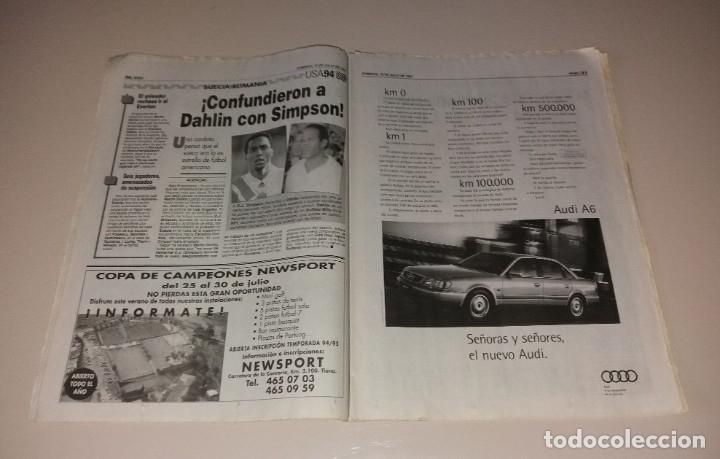 Coleccionismo deportivo: Periódico Sport. Mundial USA 1994, España vs Italia, codazo a Luis Enrique de Tassotti - Foto 4 - 202038032