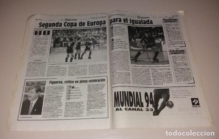 Coleccionismo deportivo: Periódico Sport. Mundial USA 1994, España vs Italia, codazo a Luis Enrique de Tassotti - Foto 6 - 202038032