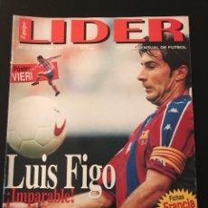 Coleccionismo deportivo: FÚTBOL EQUIPO LÍDER 20 - PÓSTER VIERI - MUNDIAL FRANCIA 1998 - FIGO - FUTRE - AS DON BALÓN MARCA. Lote 183407158