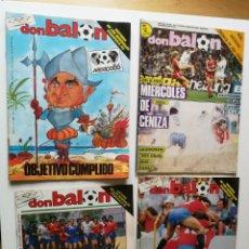 Coleccionismo deportivo: REVISTAS D.BALON Nº 555/ 556/557 DE1986 Y 600 DE 1987. Lote 183506826