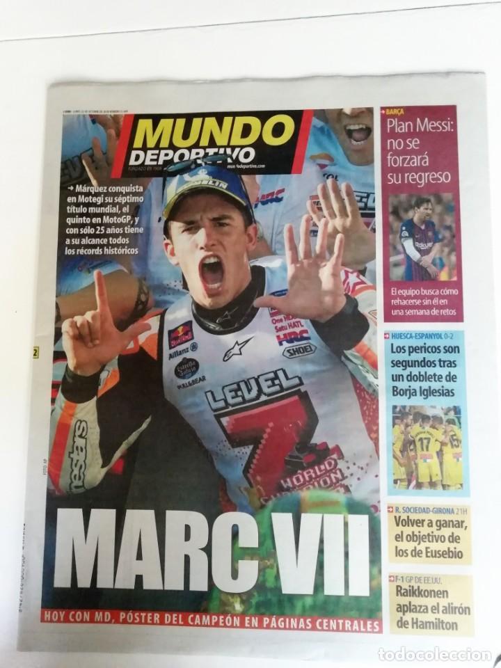 MUNDO DEPORTIVO MARC MARQUEZ GANA SU SEPTIMO CAMPEONATO DEL MUNDO DE MOTOCICLISMO (Coleccionismo Deportivo - Revistas y Periódicos - Mundo Deportivo)
