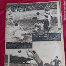 Coleccionismo deportivo: REVISTA VIDA DEPORTIVA N°384. 19 ENERO 1953. BARÇA CORUÑA. LOS HEROES DEL EVEREST NOS HABLAN. Lote 183925280