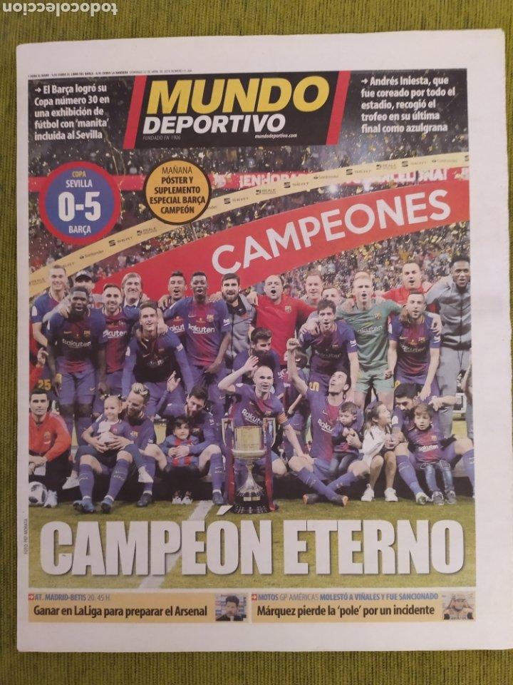 Coleccionismo deportivo: PERIÓDICOS MUNDO DEPORTIVO Y MARCA. FINAL COPA DEL REY FC BARCELONA 5 SEVILLA 0. BARÇA CAMPEÓN - Foto 2 - 183960687