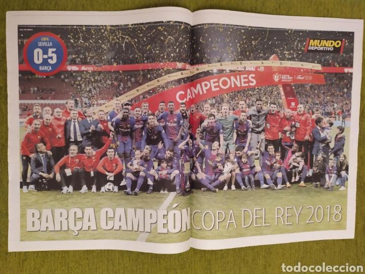 Coleccionismo deportivo: PERIÓDICOS MUNDO DEPORTIVO Y MARCA. FINAL COPA DEL REY FC BARCELONA 5 SEVILLA 0. BARÇA CAMPEÓN - Foto 3 - 183960687