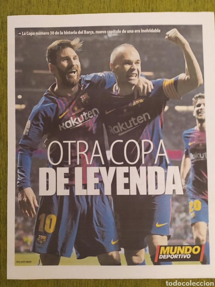 Coleccionismo deportivo: PERIÓDICOS MUNDO DEPORTIVO Y MARCA. FINAL COPA DEL REY FC BARCELONA 5 SEVILLA 0. BARÇA CAMPEÓN - Foto 4 - 183960687