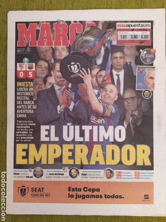 Coleccionismo deportivo: PERIÓDICOS MUNDO DEPORTIVO Y MARCA. FINAL COPA DEL REY FC BARCELONA 5 SEVILLA 0. BARÇA CAMPEÓN - Foto 5 - 183960687