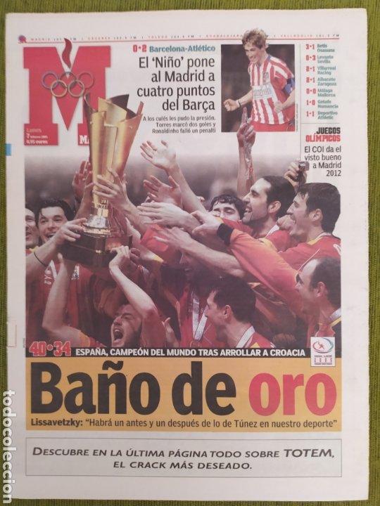 Coleccionismo deportivo: LOTE 3 PERIÓDICOS MARCA. ESPAÑA CAMPEONA DEL MUNDO BALONMANO 2005 Y 2013. CAMPEONA DE EUROPA 2018 - Foto 2 - 183961196