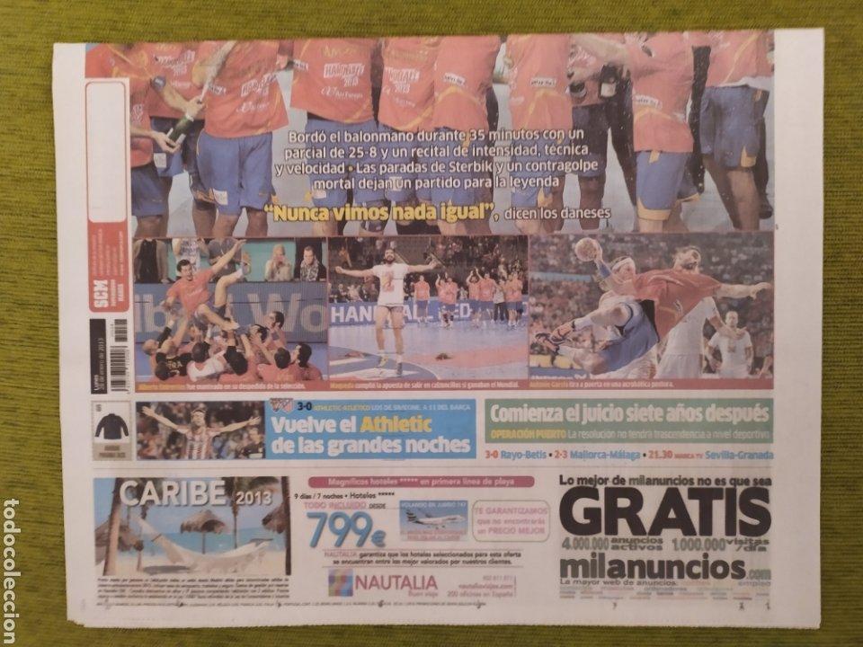Coleccionismo deportivo: LOTE 3 PERIÓDICOS MARCA. ESPAÑA CAMPEONA DEL MUNDO BALONMANO 2005 Y 2013. CAMPEONA DE EUROPA 2018 - Foto 4 - 183961196