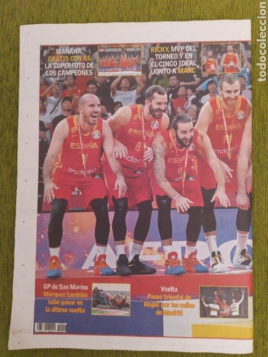 Coleccionismo deportivo: PERIÓDICO AS. ESPAÑA CAMPEONA DEL MUNDO DE BALONCESTO 2019 - Foto 2 - 183961612