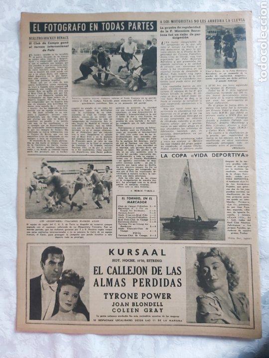 Coleccionismo deportivo: REVISTA VIDA DEPORTIVA N°175 11 ENERO 1949. SAMITIER ENJUICIA LA WM - Foto 2 - 184352020