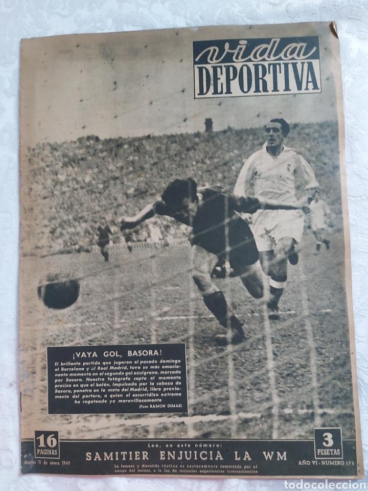 REVISTA VIDA DEPORTIVA N°175 11 ENERO 1949. SAMITIER ENJUICIA LA WM (Coleccionismo Deportivo - Revistas y Periódicos - Vida Deportiva)