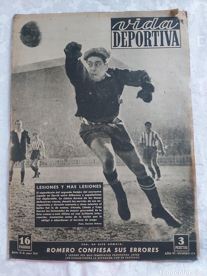 REVISTA VIDA DEPORTIVA N°176 18 ENERO 1949. ROMERO CONFIESA SUS ERRORES (Coleccionismo Deportivo - Revistas y Periódicos - Vida Deportiva)