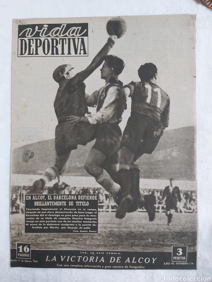 VIDA DEPORTIVA N°178 1 FEBRERO 1949. LA VICTORIA DE ALCOY (Coleccionismo Deportivo - Revistas y Periódicos - Vida Deportiva)
