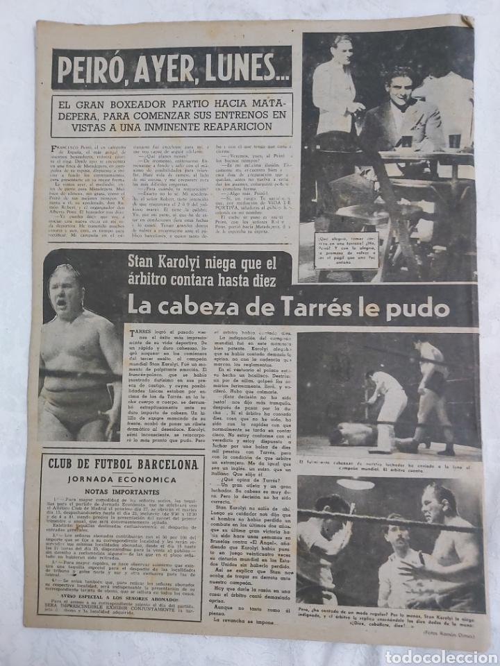 Coleccionismo deportivo: VIDA DEPORTIVA N°180 15 FEBRERO 1949. LAS MEMORIAS DE CAÑARDO - Foto 2 - 184368505