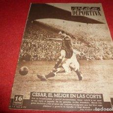 Coleccionismo deportivo: (LLL)VIDA DEPORTIVA Nº: 338(3-3-52) BARÇA 4 R.MADRID 2,!!! AT.MADRID 8 AT.TETUÁN 0 !!!. Lote 184466345