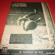 Coleccionismo deportivo: (LLL)VIDA DEPORTIVA Nº: 225(27-12-49)RICARDO ZAMORA CAP.15,BARÇA 2 SAN LORENZO ALMAGRO 3. Lote 184680607