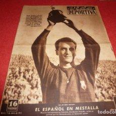 Coleccionismo deportivo: (LLL)VIDA DEPORTIVA Nº: 278(9-1-51)LERIDA 2 MÁLAGA 5,VALENCIA 3 ESPAÑOL 2,BARÇA 3 AT.MADRID 0. Lote 184681560
