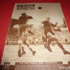 Collectionnisme sportif: (LLL)VIDA DEPORTIVA Nº: 313(11-9-51) EN SARRIÁ,ESPAÑOL 1 BARÇA 0. Lote 184682321